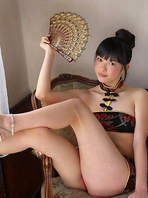 Tomoe Yamanaka Asian shows hot behind under such short skirt